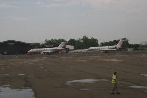 These two biz jets were in Cartagena in July 2009