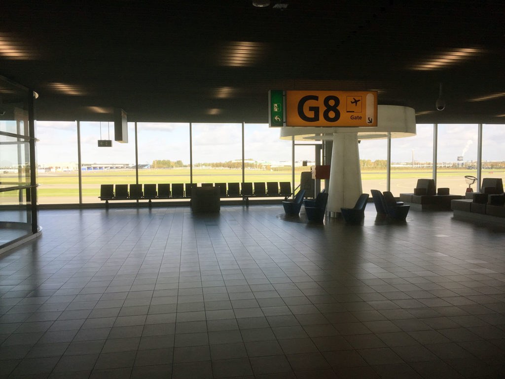 Gate G8 at Amsterdam
