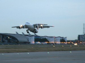 London City BAe 146 Departure
