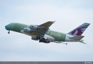 A380 Qatar maiden flight