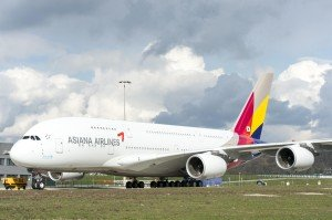 Asiana A380 rolls out of paintshop