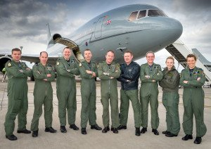 Last operational sortie of the 216 Squadron RAF Tristar aircraft