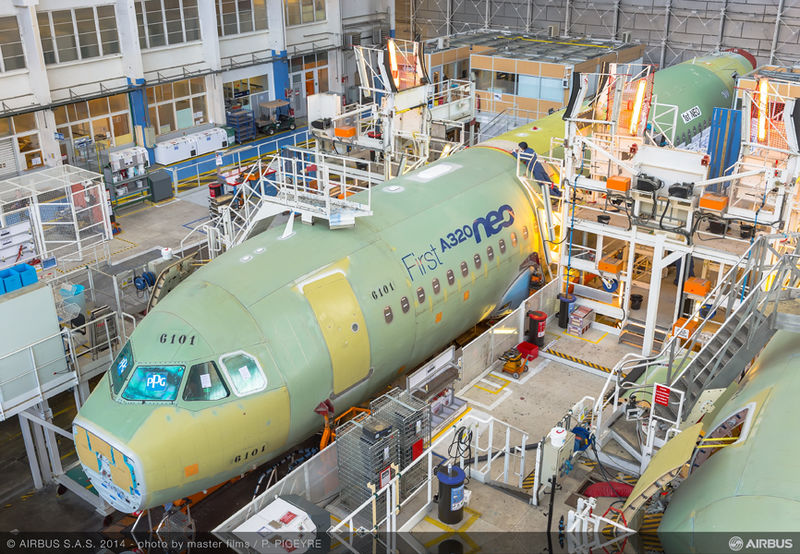 First A320neo assembly