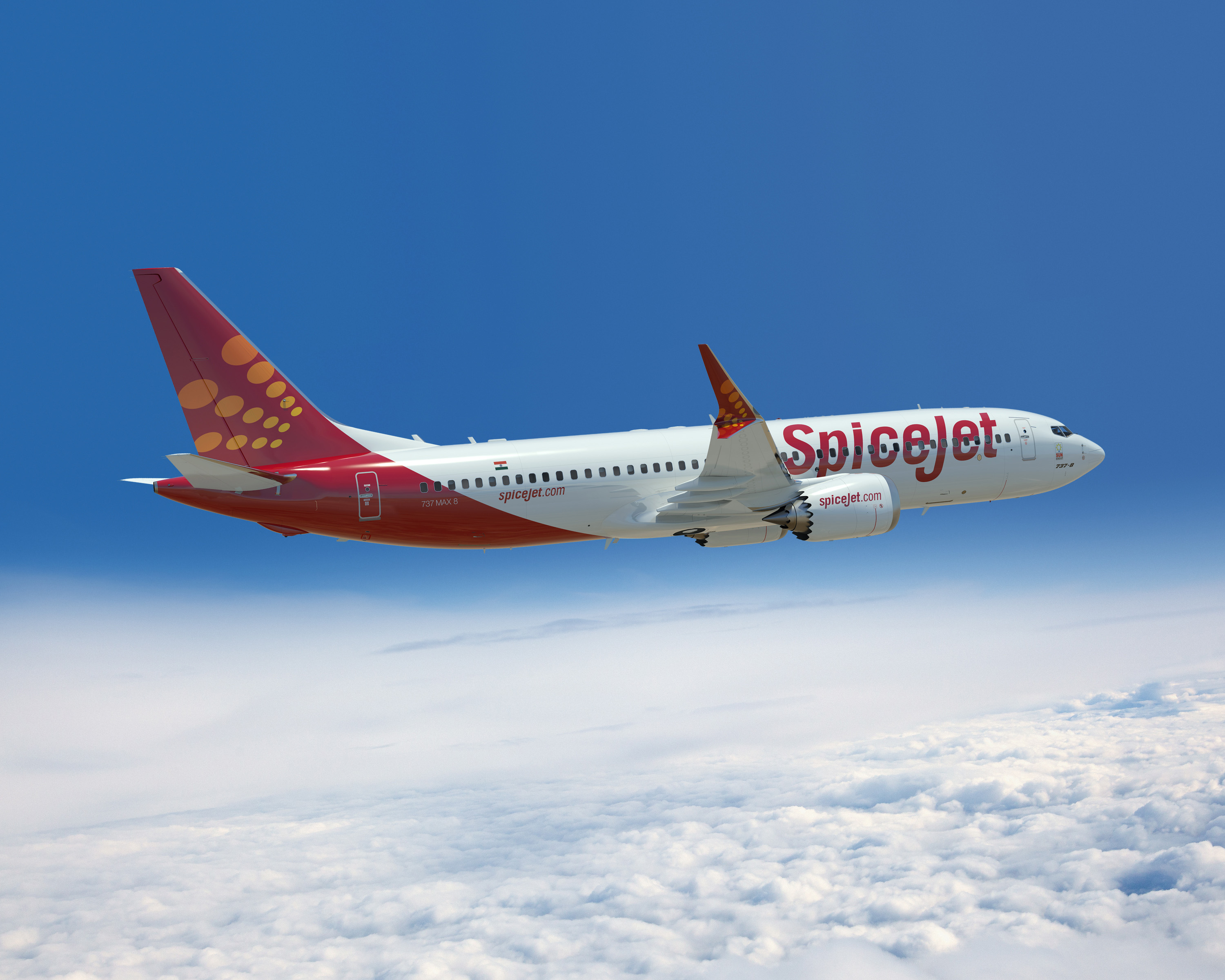 SpiceJet 737 MAX8 Artwork