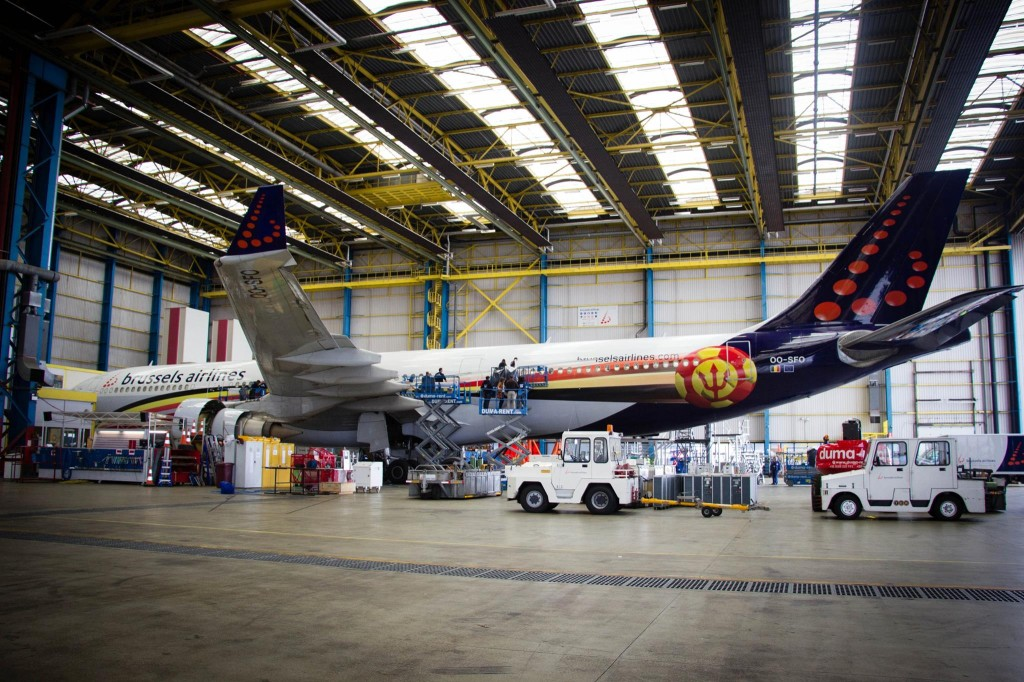 Belgium's Red Devils scheme has been painted on an A319, and this A330 OO-SFO