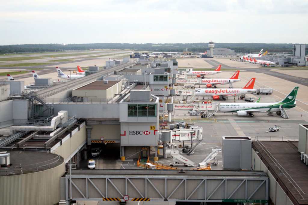 The view from the BLOC Hotel at London Gatwick airport.