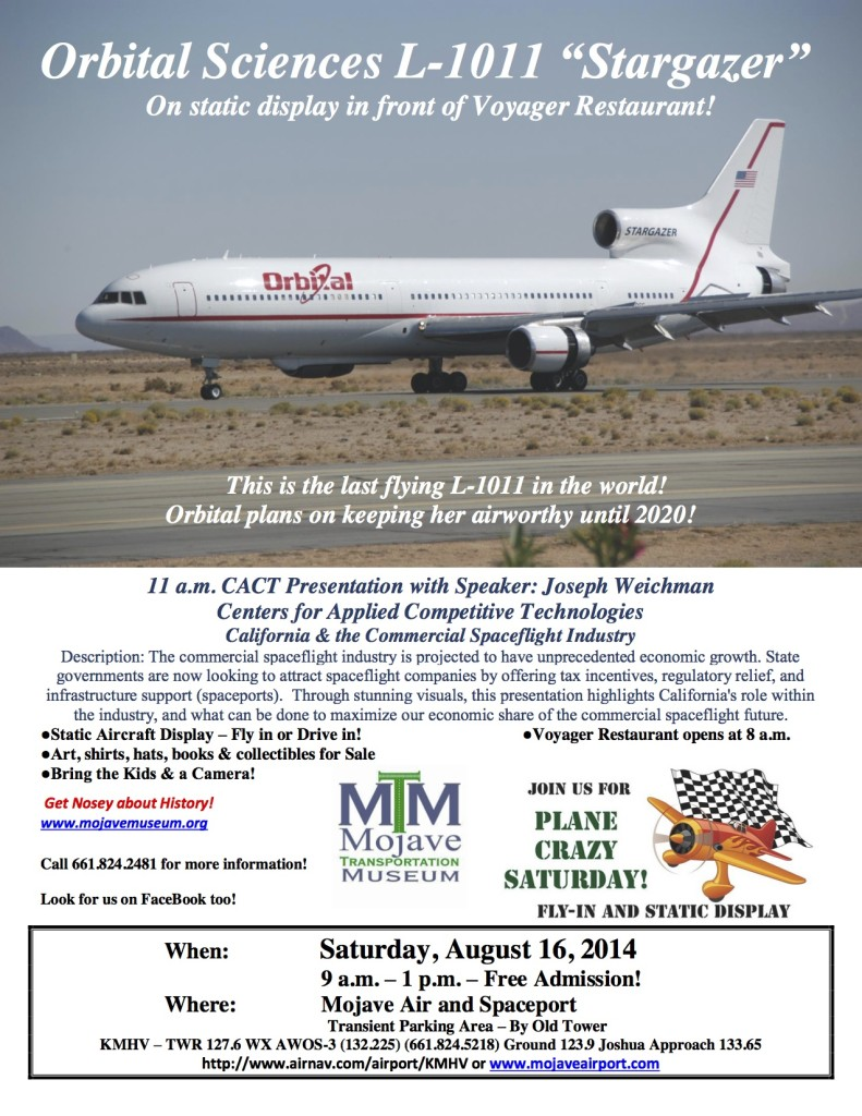 Mojave Plane Crazy August