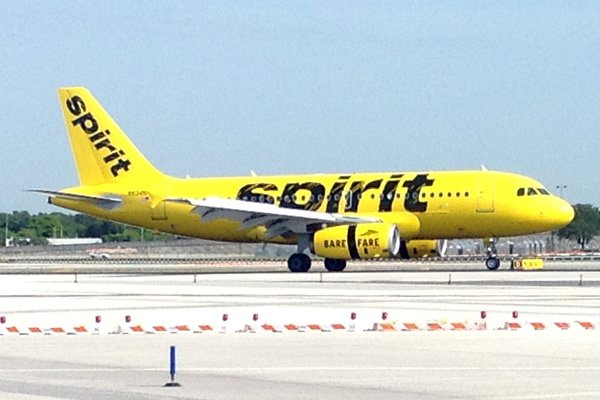 Spirit airlines new livery airport spotting blog for Book a flight with spirit airlines