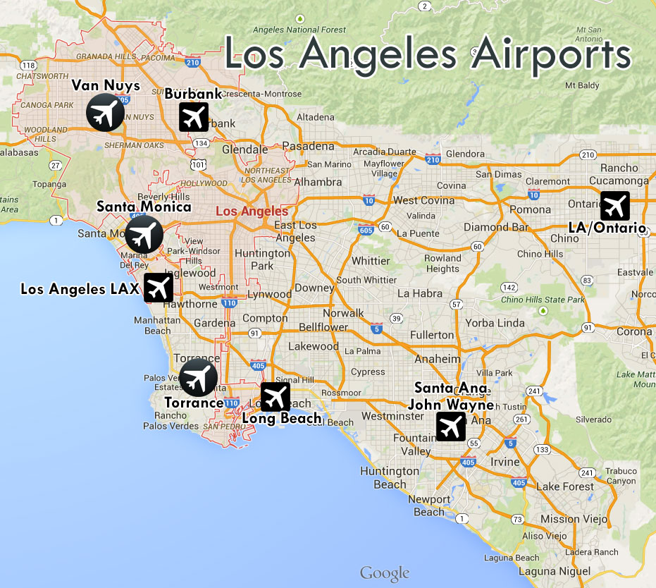 Los Angeles Small Houses: Airports Of Los Angeles