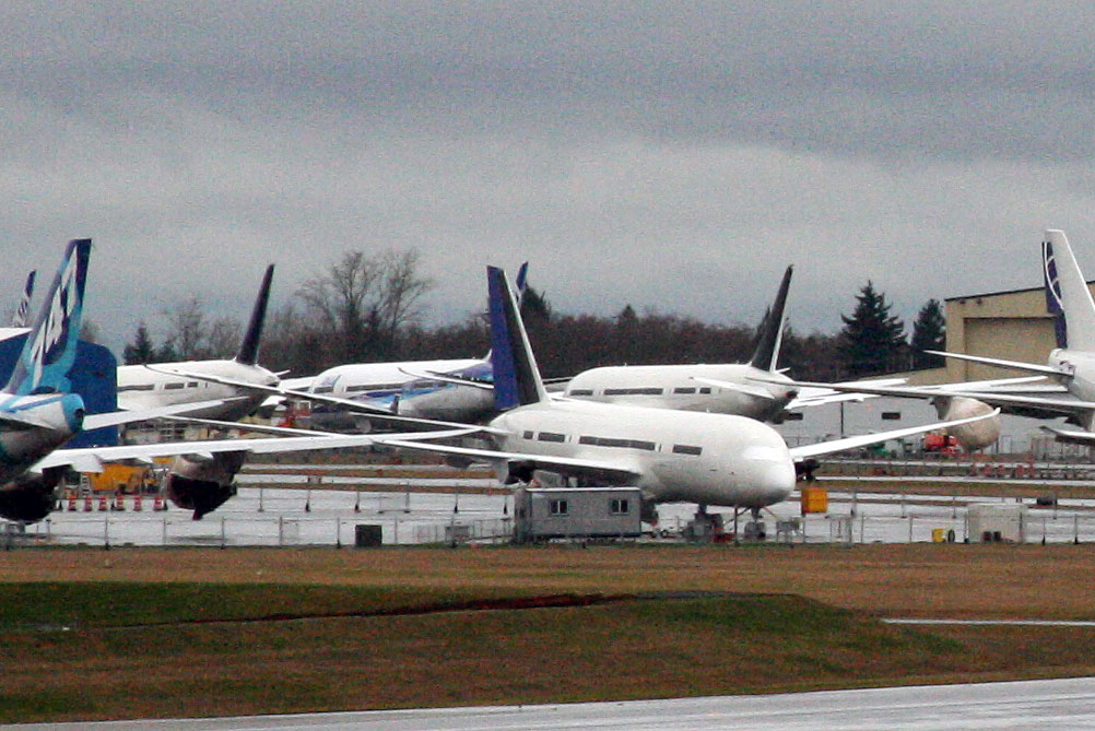 Terrible Teen 787s at Paine Field