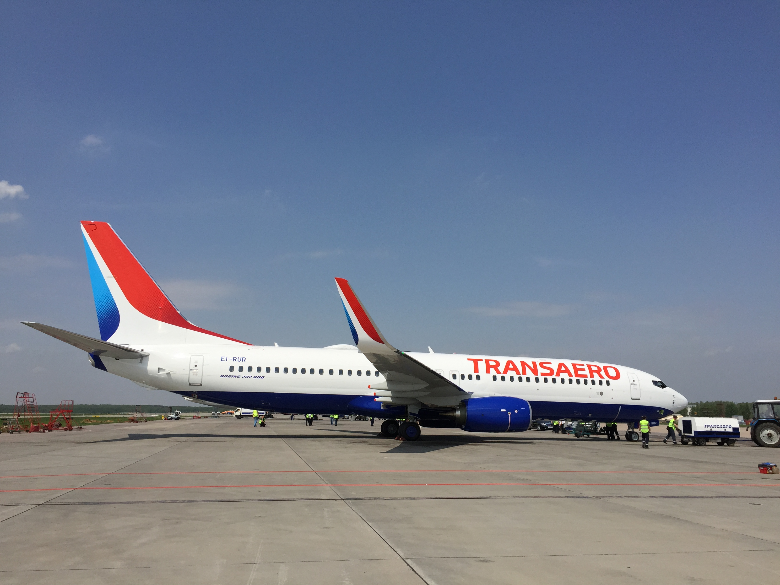 Transaero Airlines new livery