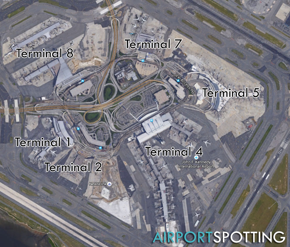 Map Of New York Showing Jfk Airport.Where To Spot At New York Jfk Airport Airport Spotting Blog