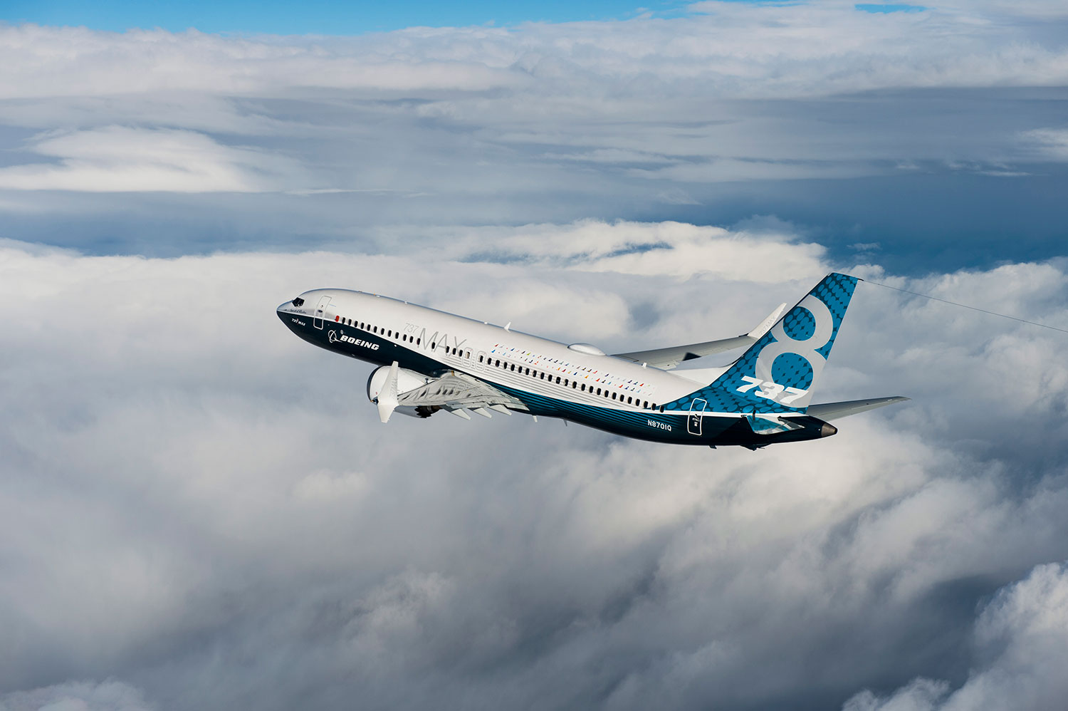 Boeing 737 Max First Flight In Pictures Airport Spotting