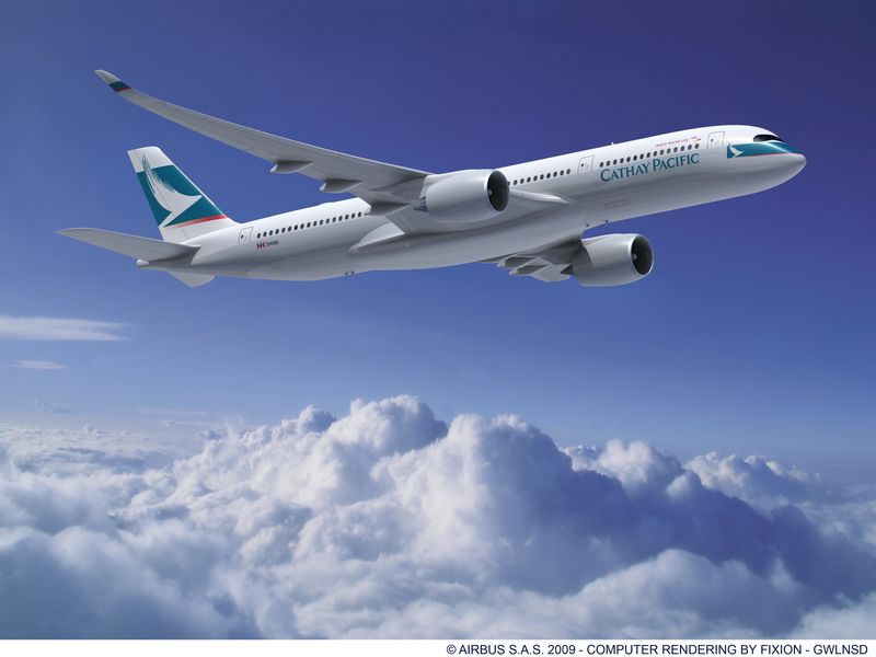 Cathay Pacific A350 Routes
