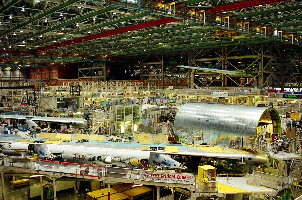 Boeing 747 in factory