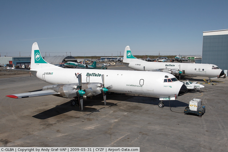 Western Electra N9746C now flies with Buffalo Airways.