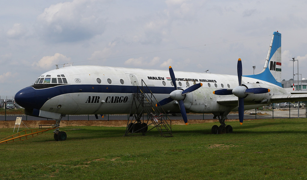 Malev Air Cargo IL-18 HA-MOG at the Budapest Aircraft Museum