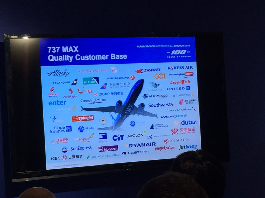 Boeing 737 MAX customers