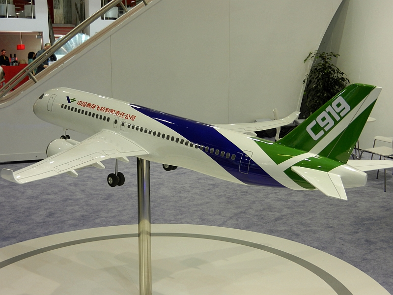 The new Comac C919 Chinese airliner