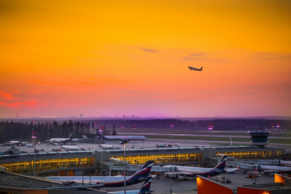 Moscow Sheremetyevo Airport from the Radisson Blu