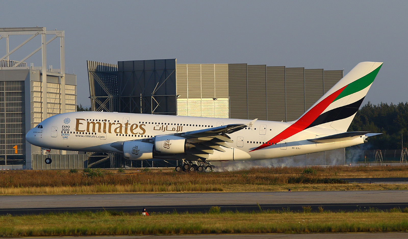 Emirates A380 at Frankfurt Airport