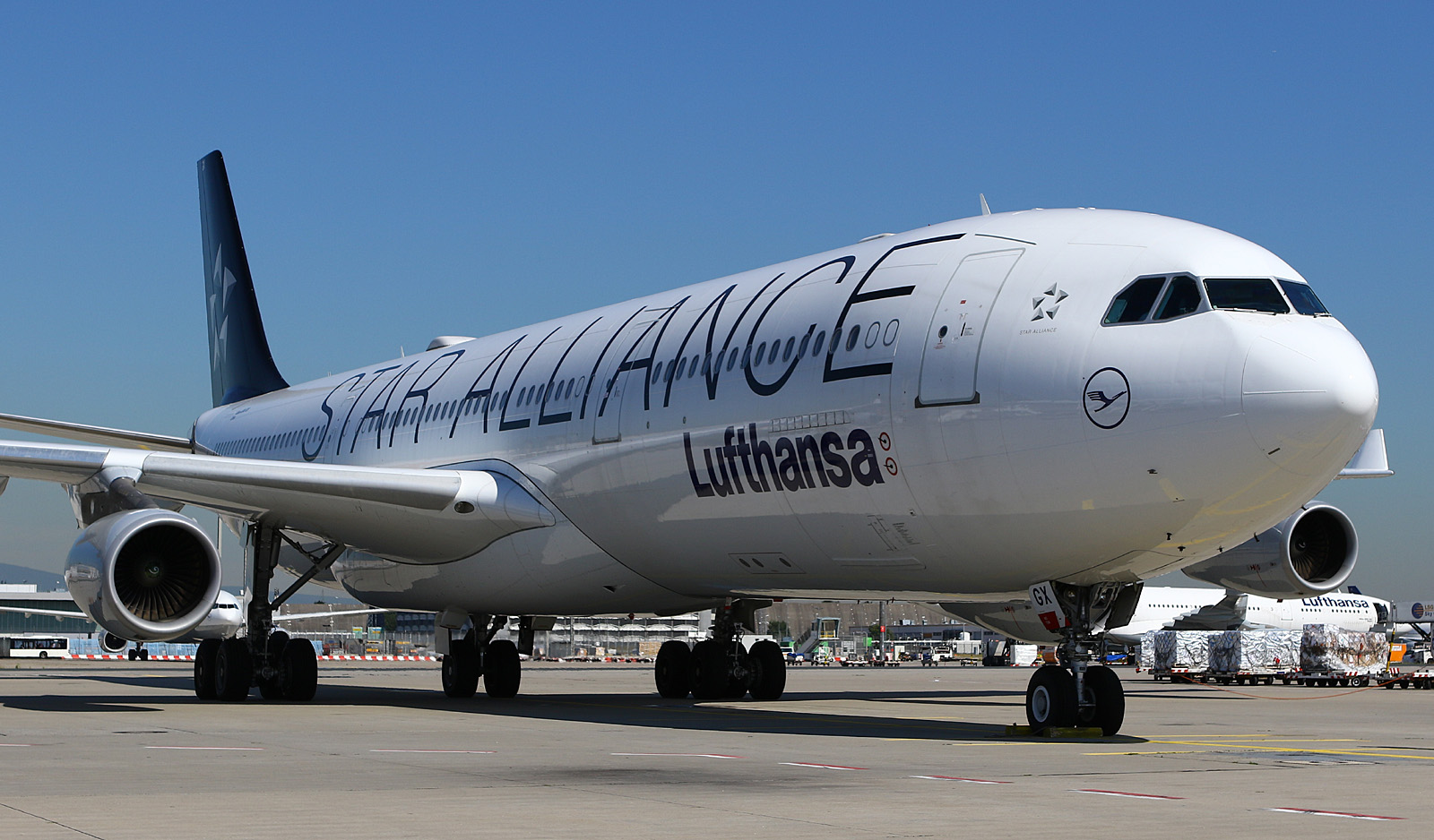 Lufthansa Star Alliance A340-300 at Frankfurt Airport