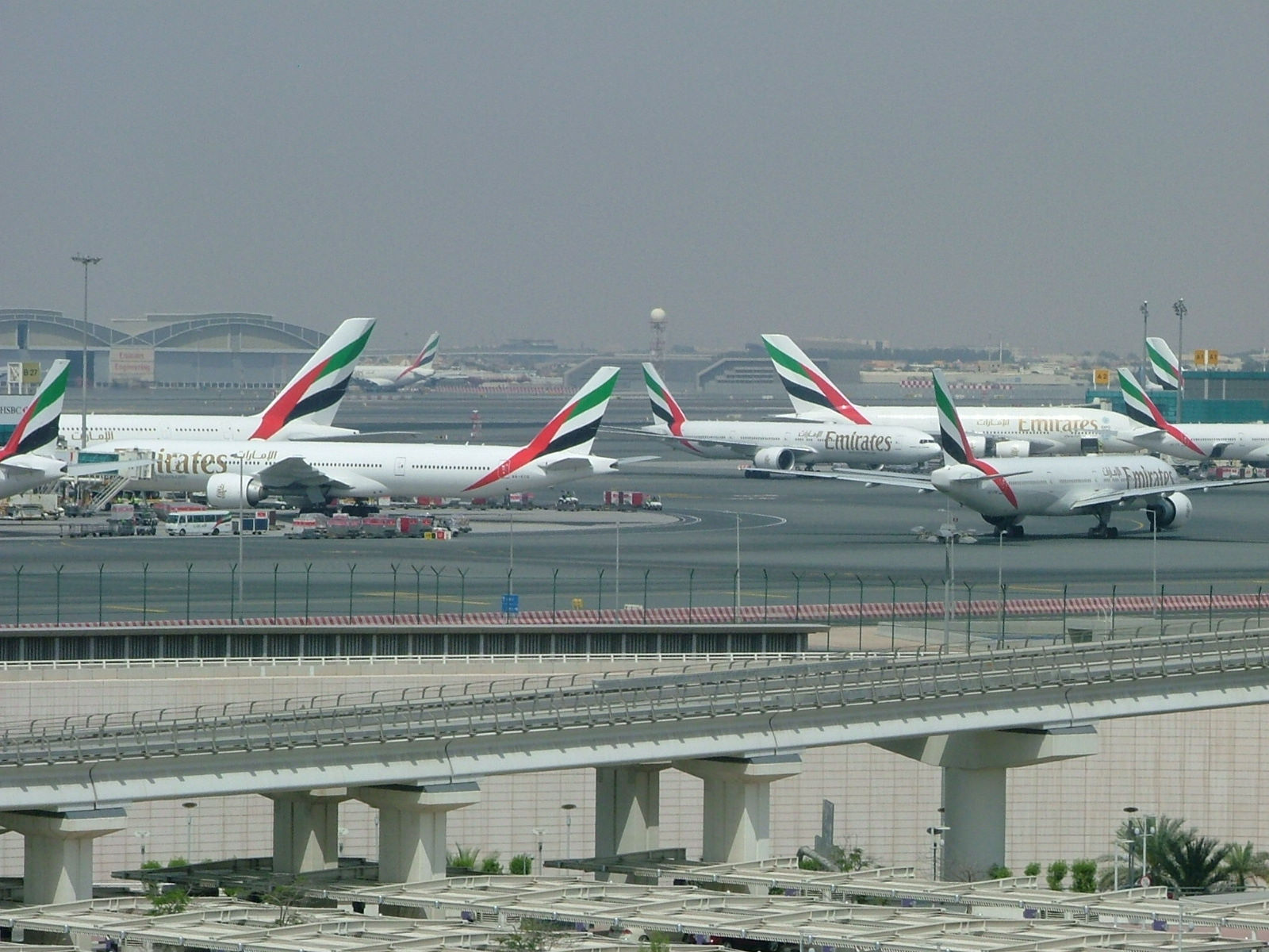 View from the Premier Inn Dubai Airport spotting hotel