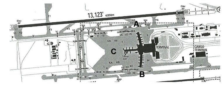 Muscat Airport Layout