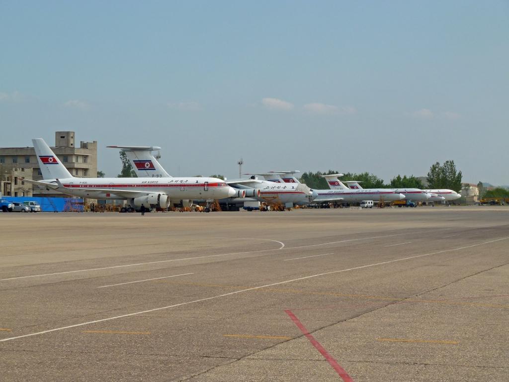 Pyongyang Line Up Airport Spotting