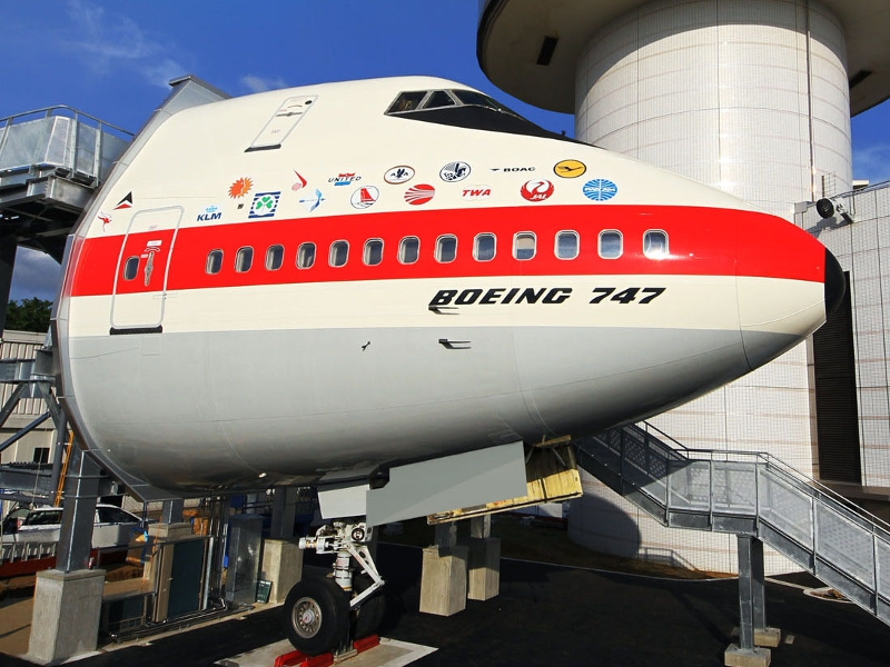Boeing 747 at museum