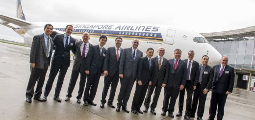 Singapore Airlines A350 Delivery
