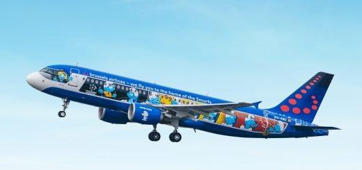 brussels airlines aerosmurf