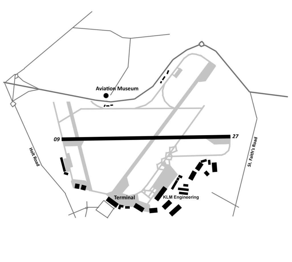 norwich airport map